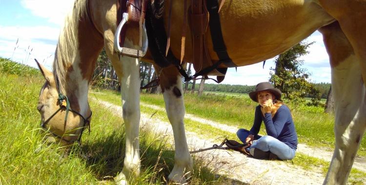 Pause in der Südheide - Wanderritt mit DCR Charming Shima